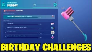Fortnite Birthday challenges. Free Rewards