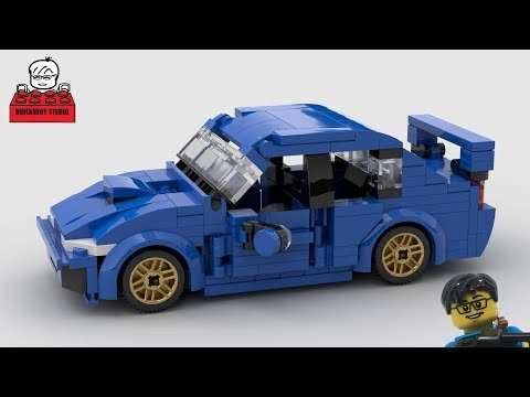 LEGO MOC#29 Subaru WRX Stop Motion Speed Build スバル Plus The Initial D Racing Story 頭文字D  イニシャル・ディー