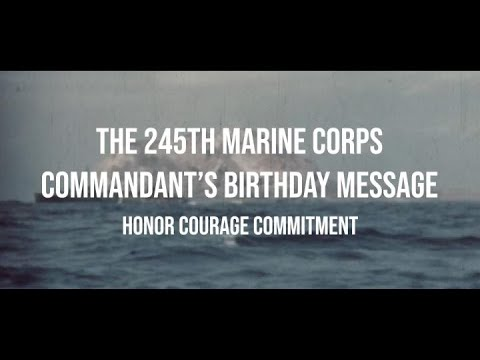 Commandant's 245th Marine Corps Birthday Message