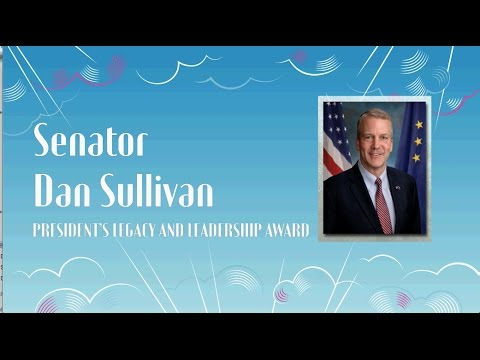2017 President's Legacy and Leadership Award: U.S. Senator Dan Sullivan