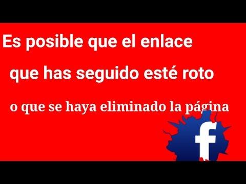 Solución Resuelto. Esta Pagina No Esta Disponible../Facebook.