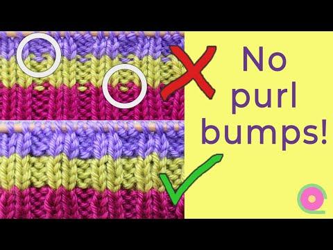 Changing yarn colors when knitting ribbing. No purl bumps