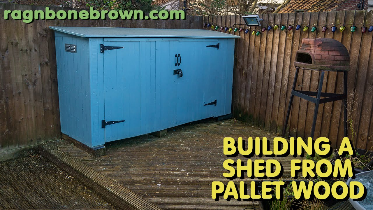 Building A Shed Using Pallet Wood   Part 1 Of 3   YouTube
