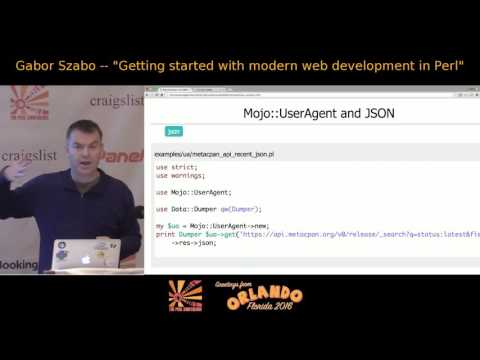 2016 - Getting started with modern web development in Perl - Gabor Szabo
