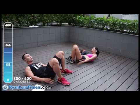 Bài Tập 24 Phut 400 Calories Giảm Mỡ Toàn Thân Cho Các Couple – HLV Ryan Long Fitness