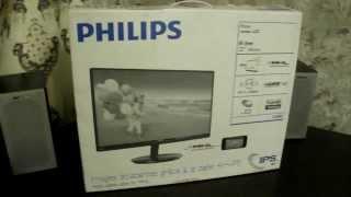 Розпакування монітора PHILIPS 23 TFT Black LED IPS