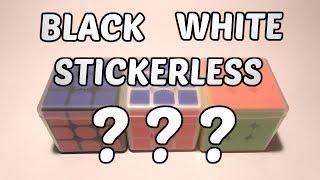 Чёрный/Белый/Цветной | Как выбрать цвет кубика Рубика?
