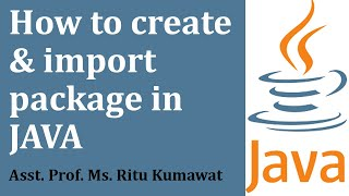 Wie erstellen Sie package-und import-package in java(BCA,MCA,M. scIT)