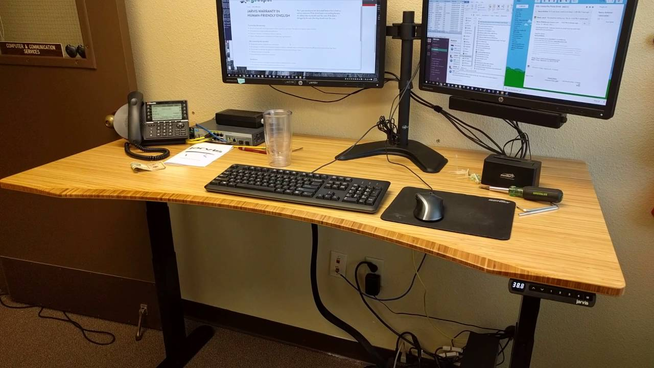 Jarvis convertible standing desk  YouTube
