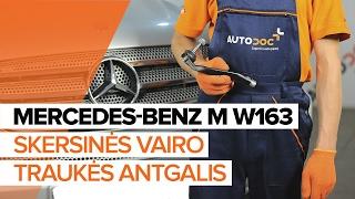 Kaip pakeisti skersinės vairo traukės antgalis MERCEDES-BENZ M W163 PAMOKA | AUTODOC