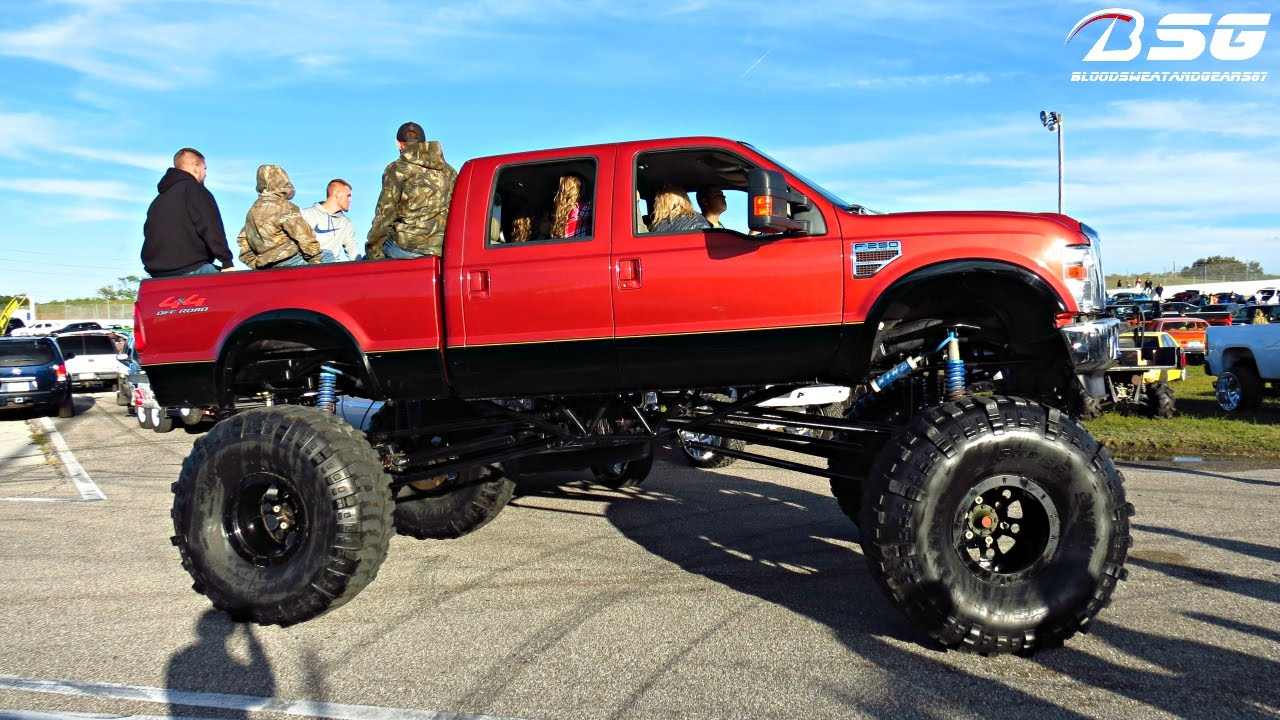 Lifted Ford F250 >> FORD F-250 (Off Road 4x4) with HUGE LIFT & Super Swamper ...