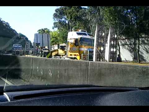 Wollongong Mt Ousley Truck Flipped Crashed Accident Youtube