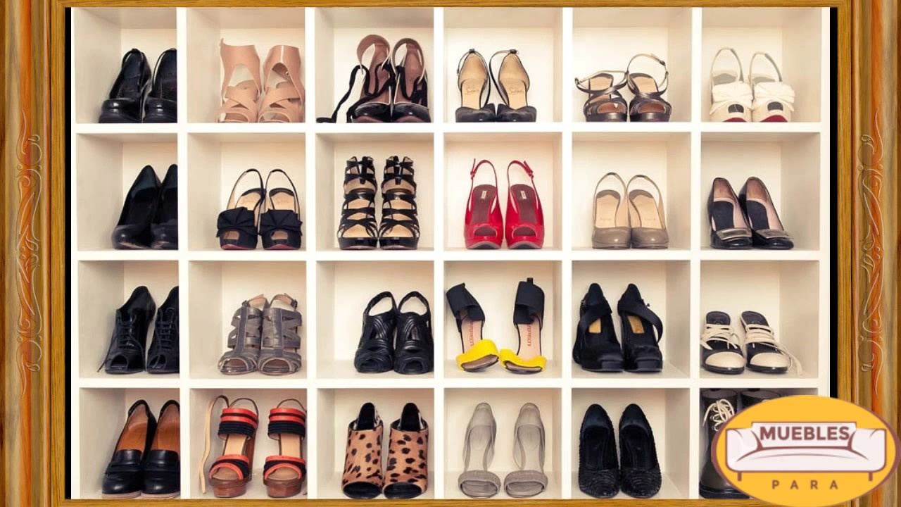 Muebles para guardar zapatos - YouTube