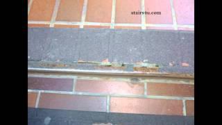 Antiskid Stair Tread Material Problems And Brick Veneer Steps
