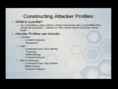 DefCon 15 - T301 - Analysing Intrusions  Intruders.avi