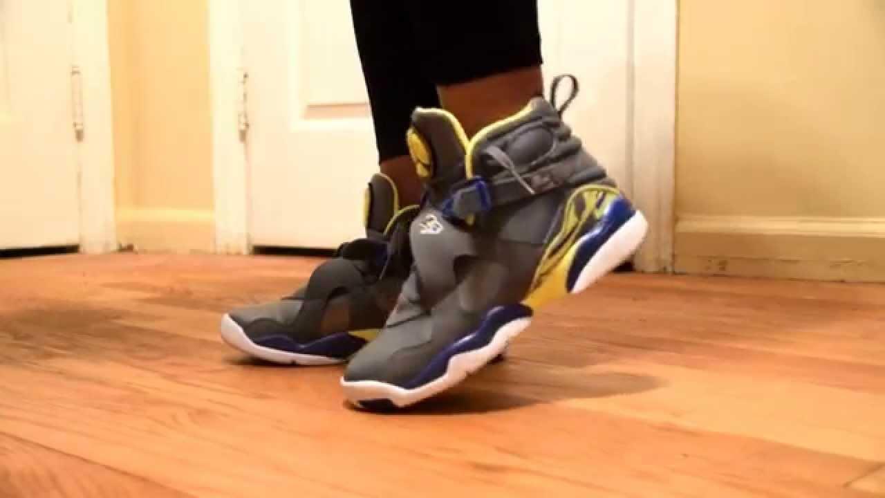 06e54acbb35 On Feet: Jordan Retro 8 Laney GS - YouTube