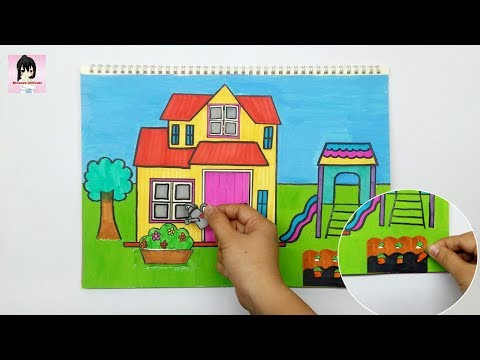 DIY HOW TO MAKE QUEITBOOK PAPER DOLLHOUSE PAPER CRAFT FOR KIDS