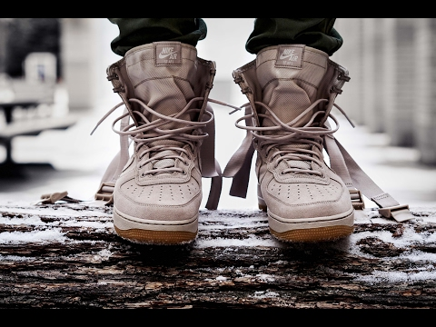 ARMY HYPEBEAST NIKE SPECIAL FIELD AIR FORCE 1 STRING ON FEET REVIEW (SF AF1)