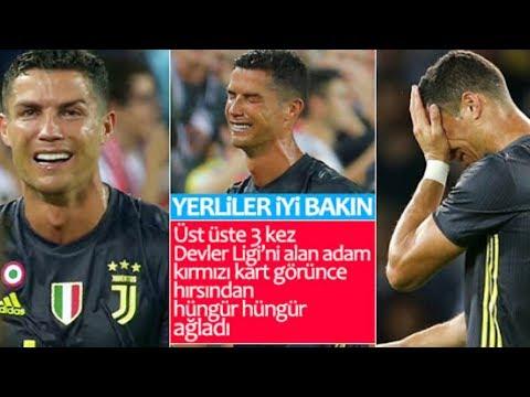Cristiano Ronaldo Kırmızı Kart Gördü! Gözyaşlarına Hakim Olamadı!!!
