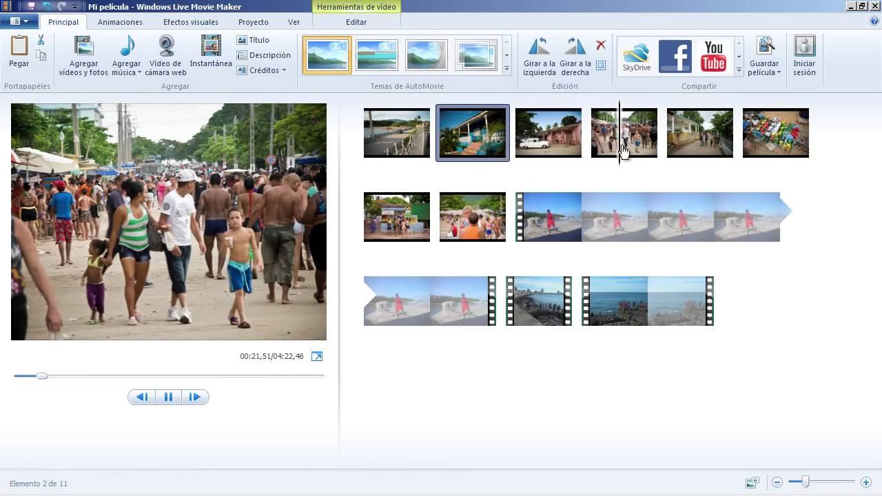 Tutorial Edicion De Video En Windows Live Movie Maker 1 Youtube