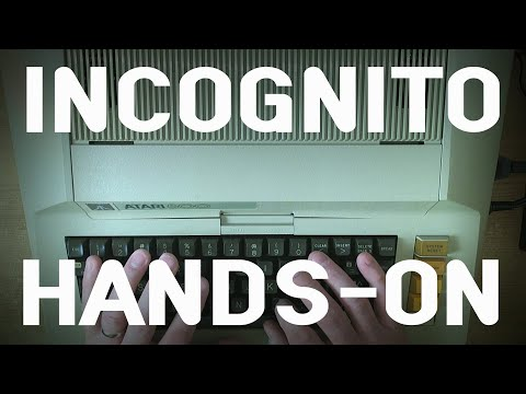Incognito Atari 800 Hands On What It Can Do And How To Do It Youtube