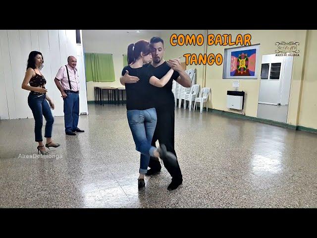 Clase Tango class, Paso a paso, secuencia de baile, Antonela Mendez, Raul Moure. por Carlos Neuman