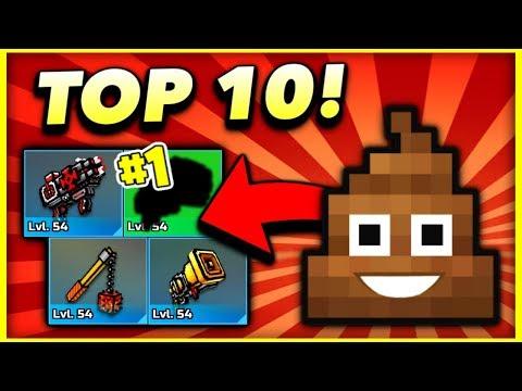 Top 10 WORST Weapons In Pixel Gun 3D! (2019)