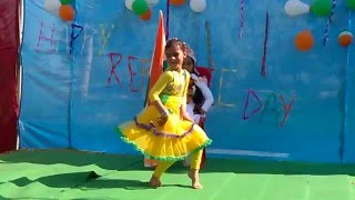 Aradhya Tomar performing on Chak De India on 26Jan16 BT Public School