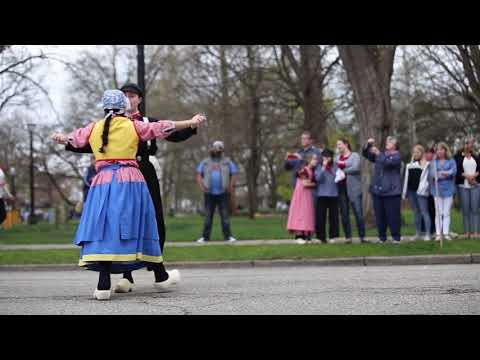 Traditional Dutch Dance performances at Tulip Time 2018 in Holland, Michigan
