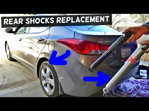 HOW TO REPLACE REAR SHOCKS STRUTS ON HYUNDAI ELANTRA