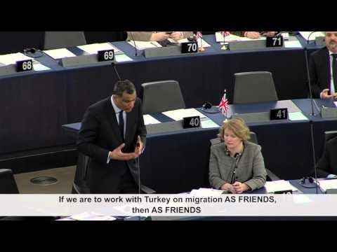 Kamall expresses a 'number of reservations and questions' over EU-Turkey deal