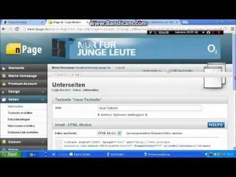 Mit HTML Ein Youtube Video Auf (eure) Webseite/Homepage Einbetten German