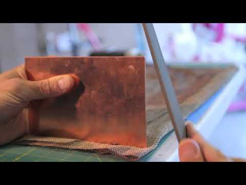 Prepping Copper For Intaglio Printmaking