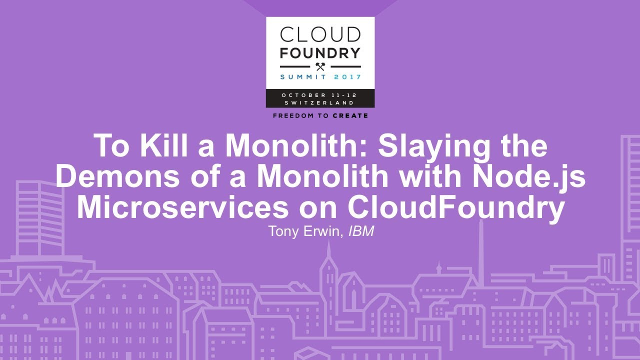 Video: How to Break a Monolith with Node js Microservices on Cloud