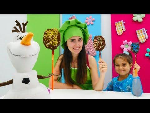 Karlar Ülkesi Olaf için kivili dondurma. Mini Mutfak