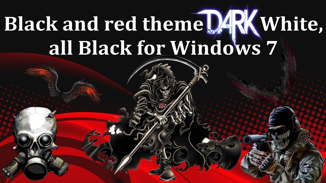 Red And Black Windows 7 Themes Black and red t...