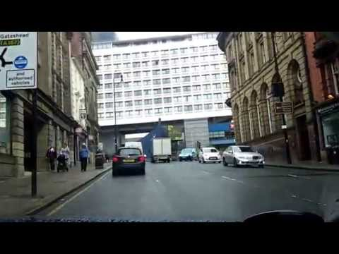 ASMR Driving in the UK Newcastle upon Tyne City Centre 08/07/2015