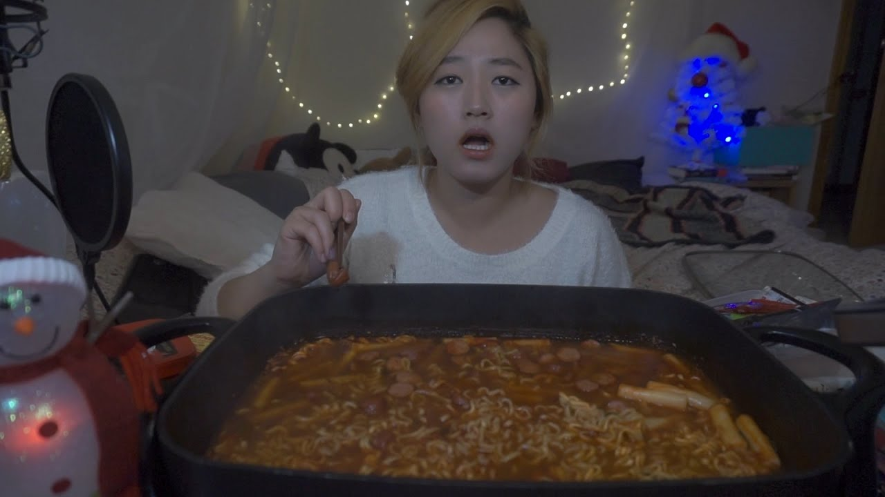 how to make spicy noodles mukbang