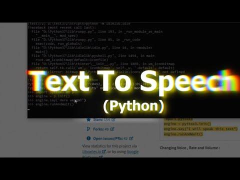 Install Offline Text-To-Speech On Win 10 Python Virtual Environment|  pyttsx3 | 2019