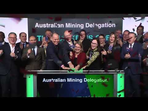 Australian Mining Delegation Opens Toronto Stock Exchange, March 7, 2018
