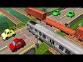Cars and Trains Cartoon | Train videos for kids | Railroad Crossing | Local Train Game for baby #1
