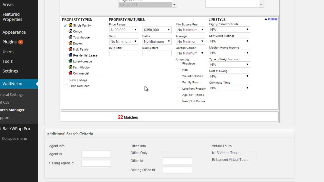 WolfNet IDX for WordPress – WordPress plugin | WordPress org