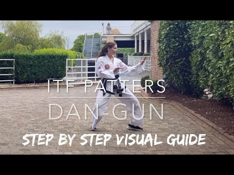 DAN-GUN | ITF Patterns | Step by Step Visual Guide 🥋