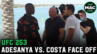 Israel Adesanya vs. Paulo Costa Face Off On The Beach