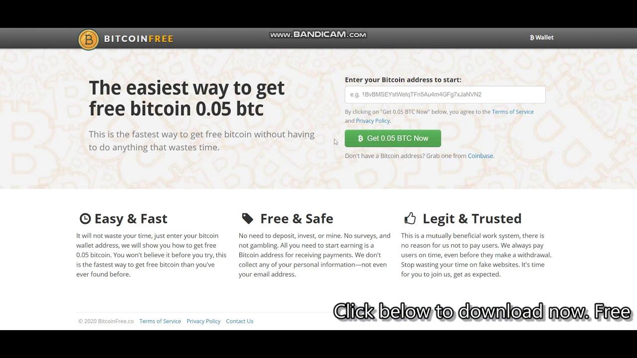 Get Free Bitcoin 0 05 Btc New Free Bitcoin Earning Website 2020 Youtube