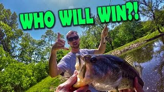 Fly Fishing vs Conventional Bass Fishing Challenge!