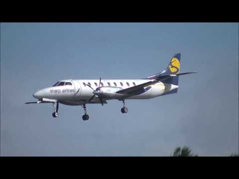 Sharp Airlines Fairchild Metro III Handles Windy Conditions Well | Landing at Gold Coast |