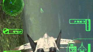 Ace Combat 3 Gameplay PSX