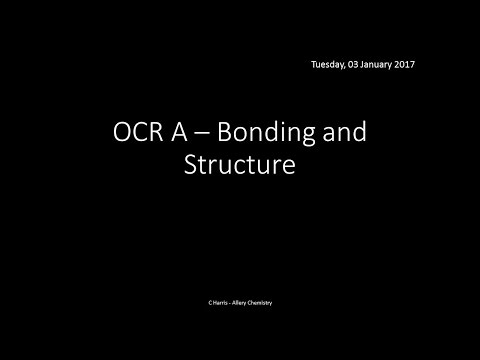 OCR A 2.2.2 Bonding And Structure REVISION