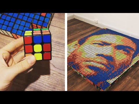 Rubik's Cube Pop Art Portraits By Giovanni Contardi